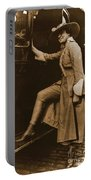 Chicago Suffragette Marching Costume Portable Battery Charger by Padre Art
