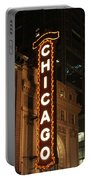 Chicago Theater At Night Portable Battery Charger