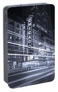 Chicago Theater Marquee B And W Portable Battery Charger