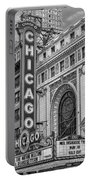 Chicago Theatre Bw Portable Battery Charger