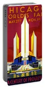 Chicago, World's Fair, Vintage Travel Poster Portable Battery Charger