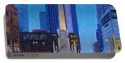 Chicago's Water Tower At Dusk Portable Battery Charger