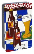 Chichis Y Cervesas Portable Battery Charger by Rojax Art
