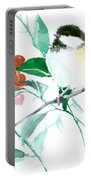 Chickadee And Berries Portable Battery Charger