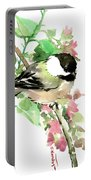 Chickadee And Spring Blossom Portable Battery Charger
