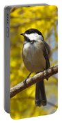 Chickadee In Spring Portable Battery Charger