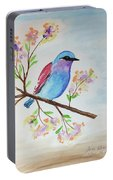 Chickadee On A Branch Portable Battery Charger