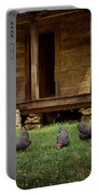 Chickens - Log House - Farm Portable Battery Charger