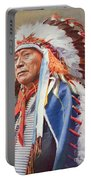 Chief Hollow Horn Bear Portable Battery Charger by American School
