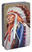 Chief Hollow Horn Bear Portable Battery Charger