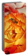 Chihuly Rose With Bee Portable Battery Charger