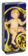 Child In Blue And Gold Portable Battery Charger