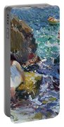 Children On The Shore. Javea Portable Battery Charger