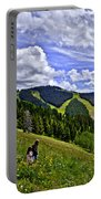 Children On Vail Mountain Portable Battery Charger