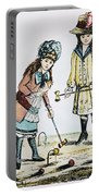 Children Playing Croquet Portable Battery Charger
