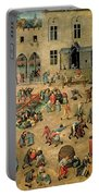 Children's Games Portable Battery Charger by Pieter the Elder Bruegel