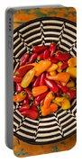 Chili Peppers In Basket  Portable Battery Charger