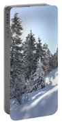 Chimney Gulch Trail In Winter Portable Battery Charger
