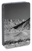 Chimney Rock In Black And White - Towaoc Colorado Portable Battery Charger