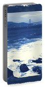China Beach And Golden Gate Bridge With Blue Tones Portable Battery Charger