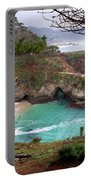 China Cove At Point Lobos Portable Battery Charger by Charlene Mitchell