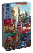 Chinatown Street Scene Portable Battery Charger