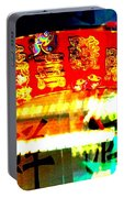 Chinatown Window Reflection 4 Portable Battery Charger by Marianne Dow