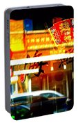 Chinatown Window Reflections 2 Portable Battery Charger by Marianne Dow