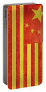 Chinese American Flag Vertical Portable Battery Charger