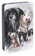 Chinese Crested And Powderpuff W/ghost Portable Battery Charger