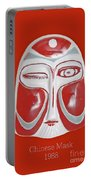 Chinese Porcelain Mask Red Portable Battery Charger