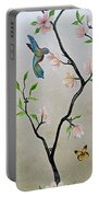 Chinoiserie - Magnolias And Birds #5 Portable Battery Charger