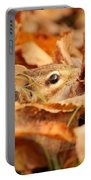 Chipmunk Among The Leaves Portable Battery Charger