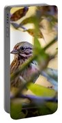 Chipping Sparrow In The Brush Portable Battery Charger
