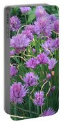 Chive Flowers Portable Battery Charger