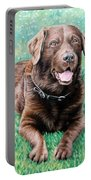 Choco Labrador Portable Battery Charger