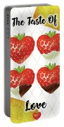 Chocolate - 7  Strawberry Portable Battery Charger