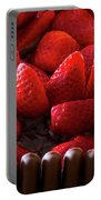 Chocolate And Strawberry Cake Portable Battery Charger