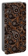 Chocolate Brown Paisley Design Portable Battery Charger
