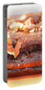 Chocolate Brownie With Nuts Dessert Portable Battery Charger
