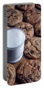 Chocolate Chip Cookies And Glass Of Milk Portable Battery Charger