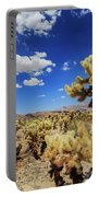 Cholla Cactus Garden In Joshua Tree National Park Portable Battery Charger