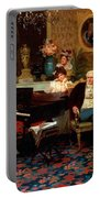 Chopin Playing The Piano In Prince Radziwills Salon Portable Battery Charger
