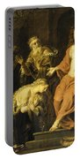 Christ And The Penitent Sinners Portable Battery Charger