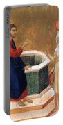 Christ And The Samaritan Woman Fragment 1311 Portable Battery Charger