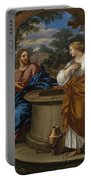 Christ And The Woman Of Samaria Portable Battery Charger