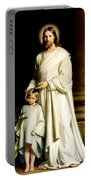 Christ And The Young Child Portable Battery Charger