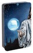 Christ At Night Portable Battery Charger