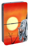 Christ At Sunrise Portable Battery Charger