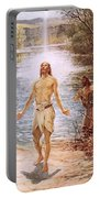 Christ Baptised By John The Baptist Portable Battery Charger